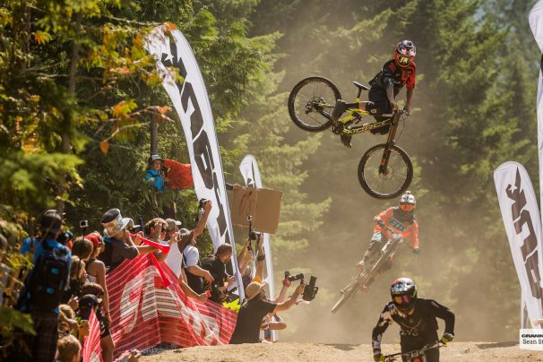 Sam Blenkinsop at the Official Whip-Off World Championships presented by Spank at Crankworx, Whistler, British Columbia, Canada. (photo Sean St.Denis)