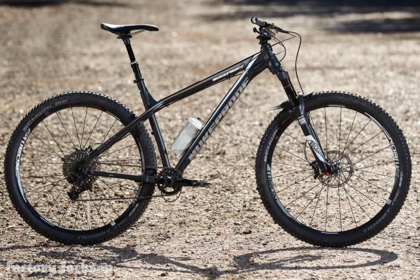Nukeproof Scout hardtail mountain bike. Swinley Forest, Berks. July 2016.