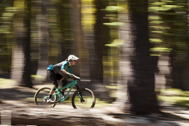 Graeagle - 29 July 2015 - Abby Hippely & Andrea Turner riding the new Juliana Bicycles Roubion & Furtado on Long Lake & Mount Elwell in the Sierras above Graeagle/Downieville.  Photo by Gary Perkin