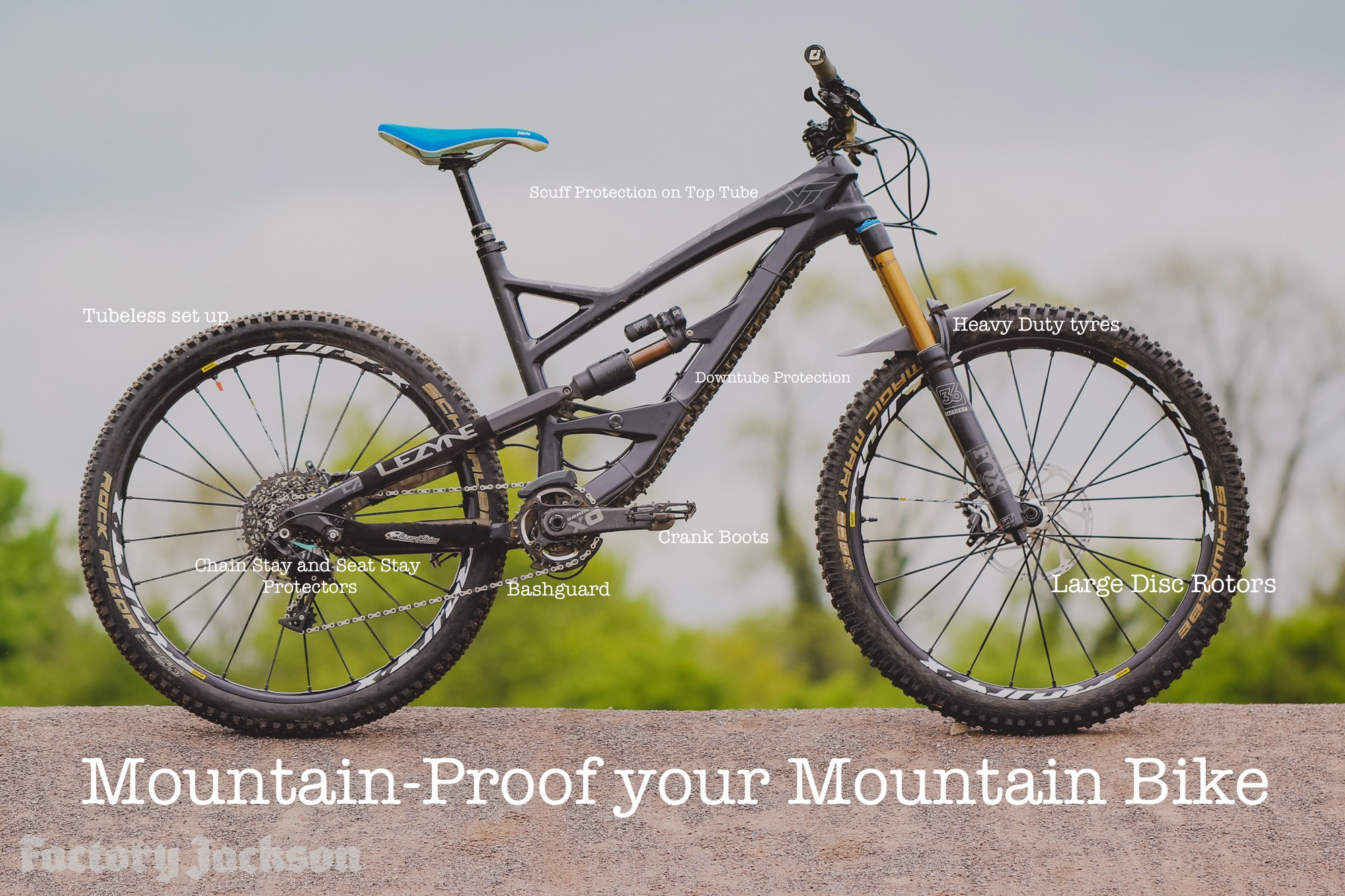 mtb frame protection makes your bike mountain proof - Mountain Bike Frames