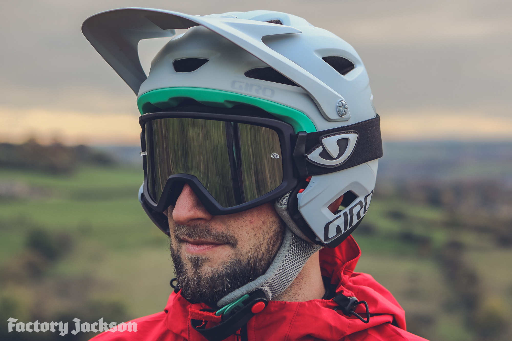 Helmets & Protective Gear Flight Tracker Giro Switchblade Full Face Mtb Helmet Cycling White